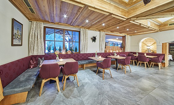 Restaurant im All Inklusive Hotel in Saalbach